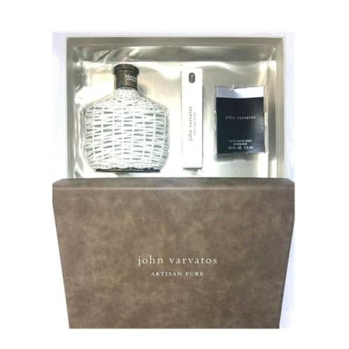 John Varvatos Artisan Pure 3 Piece Gift Set for him 125ml