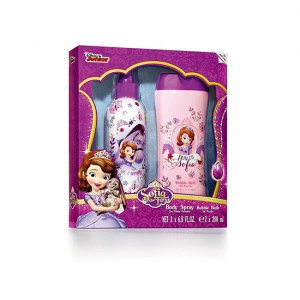 Disney Sofia the First Body Spray and Bubble Bath 200ml 2pc Set For Her